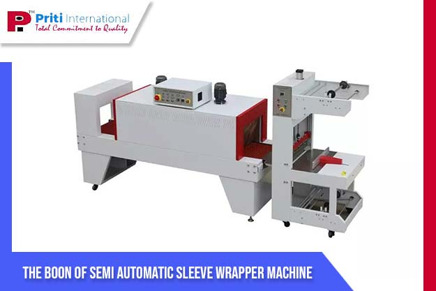 semi-automatic sleeve wrapper machine
